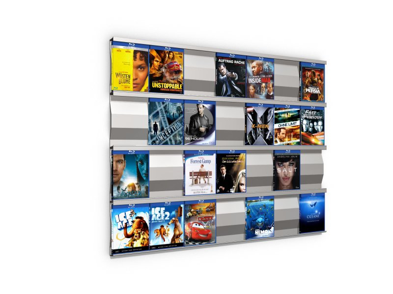 SIGMARAIL® SR7 Blu-ray-Regal - 4er Set